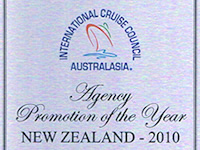 International Cruise Council Australasia Agency Promotion of the Year